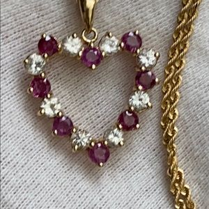 Jewelry - 14k gold heart necklace.